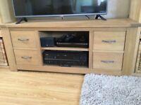 Next solid medium oak tv unit
