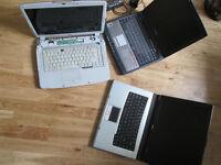 3 Laptops for parts or repair