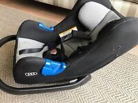 AUDI BRANDED ISOFIX BABY CAR SEAT