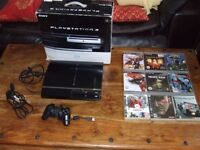 PLAYSTATION 3 60GB, INC GAMES