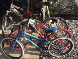 3 bikes cheap to clear need tidied boys & girls
