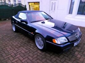 Classic Mercedes SL500 convertible for sale.