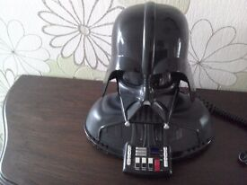 Articulated Darth Vader telephone.