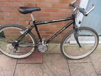 mens retro raleigh explorer mountain bike with lock and lights £59.00