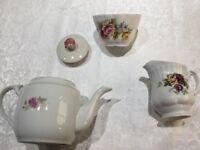 Non matching China tea pot, Milk Jug and sugar bowl