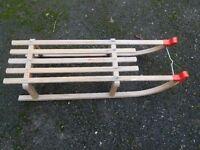 Traditional wooden toboggan for sale
