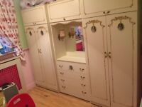 Double French Louis wardrobe and drawers