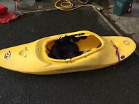 Wavesport kayak with airbags and spraydeck