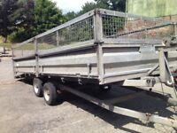 16ft x 6.6ft Indespension Tilt Bed Beavertail Transport-General-Utility Trailer *Rare Trailer*