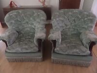 3 piece suite - 2 armchairs and 3 seater sofa