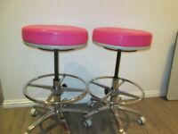 2 pale pink murrys bar style stools brand new condition £80 ono