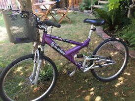 Ladies Purple Raleigh Siren Bicycle Bike