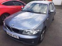 BMW 118 DIESEL 55 REG 5 DOOR IN BLUE WITH BLACK TRIM AND MOT NOVEMBER 07541350817