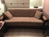 3 Seater storage sofa bed in Brown
