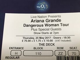 2 ARIANA GRANDE TICKETS 25TH MAY O2 ARENA -THE DECK- AMAZING VIEWS, PRIVATE SEATING, WAITER SERVICE!