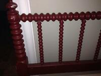 Antique spool head board and footboard