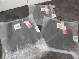 Brand New 3 x M & S Grey School skirts - age 4 years & pack of new white shirts