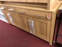 4 drawer 4 door sideboard