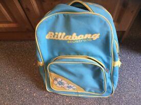 BILLABONG AUSTRALIA rucksack. IMMACULATE CLEAN CONDITION & A BARGAIN PRICE. School/hols/gym etc.