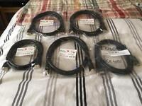 5 x Brand New HDMI Cables with gold connectors + 1 Used HDMI Cable- Collection from Reading