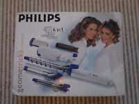 Phillips Geometrics 6-in-1 hair styling straighteners/tongs/crimpers