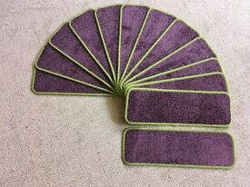 13 batman joker carpet stair pads treads 62cm x 20cm green purple heavy domestic