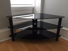 3 tier tv stand, black.