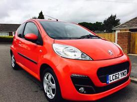 2012 PEUGEOT 107 VERVE 28k MILES FROM NEW LOW INSURANCE £20 YEAR ROAD TAX SUPER LITTLE CAR