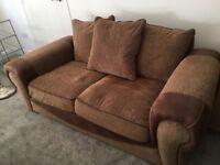 Corner sofa and 3 seater sofa set