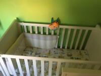 Mamas and papas cot/toddler bed with mattress