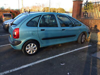 2003 CITROEN XSARA PICASSO MPV, CHILD TRAYS. AIRCON, S/HISTORY, MINT CAR, LONG MOT.