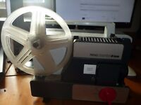 Prinz-Compere-8-Super-8-Luxe Projector-w-Prinz-Zoom f1.6 17-30Lens NEEDS A BULB