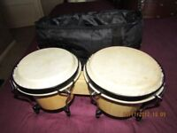 Bongo drums in carry case