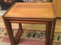 Retro GPlan nest of tables good Condition other than some fading.