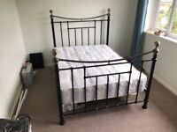 Metal Double Bed Frame and La Romantica Shakespeare Mattress