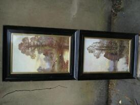 Pair of lovely old pictures, framed and glazed....