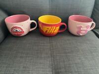 Alton Towers mugs x 3
