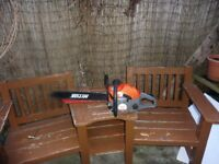 "used mitox 6220 chainsaw with 20"" bar and chain"