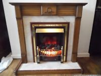Electric Fireplace With Wood Surround Free Standing