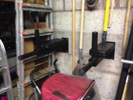 Wall mounted dip bars (weights)