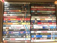 BOX OF DVDS IN VERY GOOD CONDITION. SELL AS ONE OR WILL SPLIT. IDEAL CAR BOOT MARKET STALL STOCK?