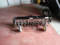 Agrifab tow behind Lawn Areator for ride on mower/tractor