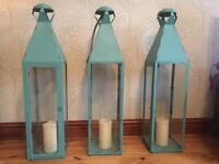3 large lanterns