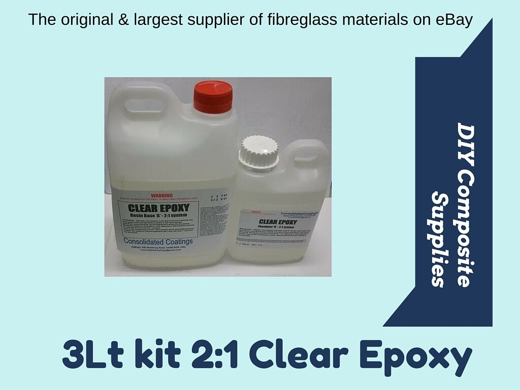 U/Clear EPOXY RESIN 2:1 3Lt.UV, 2 FREE Brushes FREIGHT Jewelry art casting boats