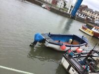 18' ex life boat with 2 outboards