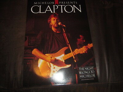 Eric Clapton vintage poster, Michelob presents, 1987