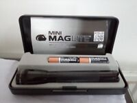 Brand new. Mini Maglite torch boxed gift set with Duracell batteries included
