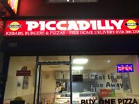 Pizza, kebab and burger takeaway business for sale