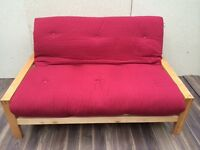 Gorgeous solid birch futon/ sofa bed by Futon company, very good condition