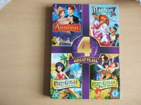 DVD SET OF 2 DISCS - 4 GREAT FILMS FOR CHILDREN - see description
